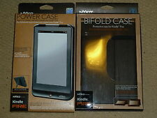 AMAZON KINDLE FIRE POWER & BIFOLD CASES BRAND NEW! Extended Battery Pack + Folio