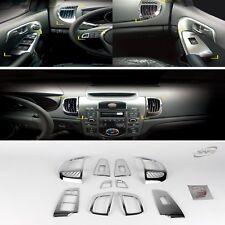 Chrome Interior Garnish Molding Trim Set for KIA 2008-2012 Cerato Sedan Koup