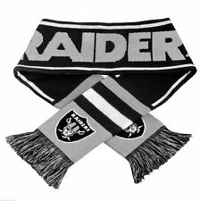 "Oakland Raiders Scarf Knit Winter Neck NEW 65"" - Wordmark Team Logo - 2013"
