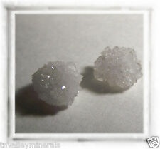 Very Rare Quartz Crystal Snow Ball Geode Floater Pearl Set *Jewelry Grade*