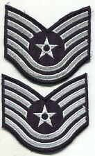 """USAF US Air Force Color Technical Sergeant Stripes Chevrons Pair 4"""""""