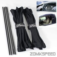 Universal 50x42cm Black Mesh Interlock VIP Car Window Curtain Sunshade UV Block