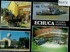 B6476cgt Australia V Echuca Paddle Boats Car Museum Multiview postcard