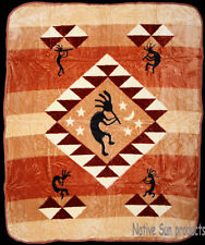 Ultra Soft Plush Queen Blanket Kokopelli Native American Southwestern 79x95""