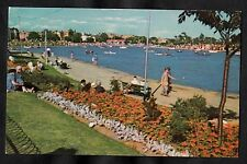 Posted 1978 view of people & the canoe lake, Southsea