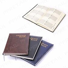Hardback A5 Leatherette A-Z Address Book Name Phone Number Directory Home Office