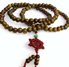 14mm Chinese Tibetan Oriental Buddhist Monk Wood Mala 108 Prayer Praying Bead