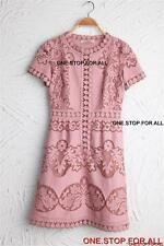 Designer Inspired Lace Dress valentino chen CELEBRITIES-PINK SIZE 4
