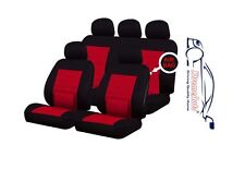 9 PCE Camden Red Lumbar Support Full Set of Car Seat Covers Toyota Auris Yaris A