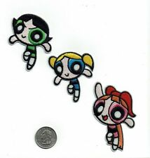 LOT of 3 Powerpuff Girls Iron on Patch patches embroidered new