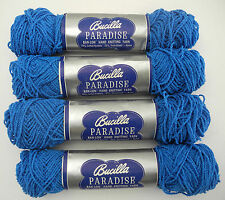 Vintage Bucilla Paradise Ban-Lon Hand Knitting Yarn - 5 Skeins Color Blue #466