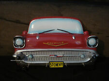 1957 CHEVY CHEVROLET CAR AUTO RED WALL KEY HOLDER HOOKS wheel rims tires classic