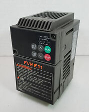 Fuji FVR-E11 FVR0.75E11S-2 Inverter 200-230V, 3Ø, 0.2~400Hz Output - Working