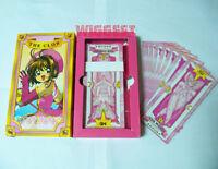 Pink Cardcaptor Sakura 55 Pcs Clow Cards Captor Cardcaptors Cosplay Card Set