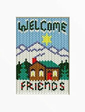 Country Cabin Welcome Beaded Banner Pattern