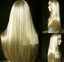 AUCJF22  this year long straight blonde mix wigs hair for women  hair wig