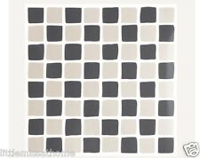 PACK 28 SELF-ADHESIVE GREY CHARCOAL TILES TRANSFERS MOSAIC STICKERS 14.5cm