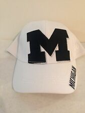 Michigan Wolverines Top of the World Shiner Stretch fit hat L/XL White