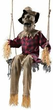 6 Ft Swinging Scarecrow Animatronics Halloween Prop Motion Activated New