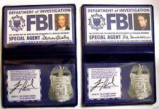 Lot de 2 badges Mulder et Scully X-Files id wallet FBI Mulder & Scully cards