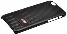 Official BMW M Collection Carbon Effect Hard Case for iPhone 6/6S - Black Stripe