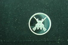 1 GRAM .999 SILVER CROSSED RIFLES GUNS SKULL ROUND COIN AR-15 AK-47 SKS  MOSIN