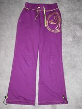 ZUMBA PURPLE AND GOLD WORKOUT PANTS SIZE MEDIUM GREAT CONDITION PERFECT LOOK