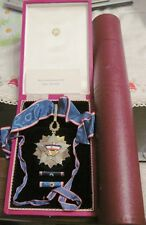 Yugoslavia Order of the FLAG 3rd class Commander Cross with case and CERTIFICATE