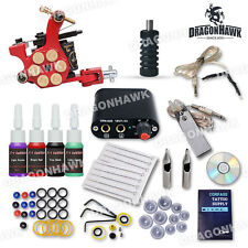 Professional Beginner Tattoo Kit Machine Guns Inks Tattoo Power Supply D1025GD-2