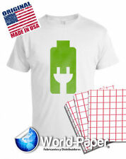 HEAT TRANSFER PAPER RED GRID IRON ON LIGHT T SHIRT INKJET PAPER 100 PK 11X17 :)