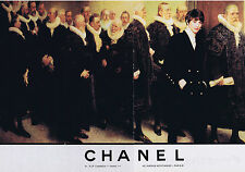 PUBLICITE ADVERTISING 094 1989 CHANEL Haute couture Ines de la Fressange(2pages)