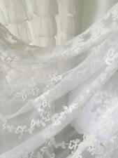 Shabby French Country Curtain Drape Vintage Ivory Lace Panel Chic More Available