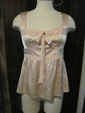 Lovely Pale Pink Nanette Lepore  Silk Victorian Blouse SZ 6 Small