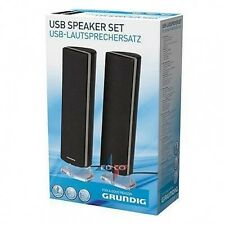 Speaker Neri Usb 2X2,5 W Grundig Altoparlante Per Pc Elettronica Audio Casse