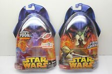 Star Wars Toys R Us Exclusive Holographic Yoda and Yoda #3 Firing Canon ROTS