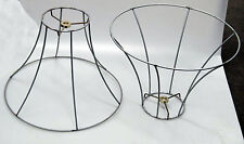 New Wire Shade Frames for Lamps or Hanging Pendants, Industrial Steampunk Shades
