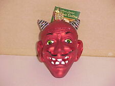Devil head Halloween Old World Christmas glass ornament