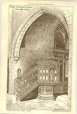 1907 Pulpit St Andrews Church Newcastle Upon Tyne Fenwick Watson Curry