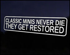 classic Mini Restored Car Decal Sticker JDM Vehicle Bike Bumper Graphic Funny