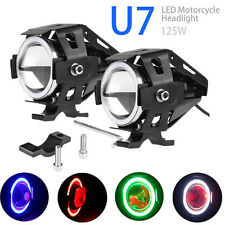 2pcs 125W CREE U5 U7 LED Motorcycle ATV Spot Fog Light Headlight Driving Lamp PC