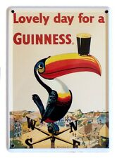 GUINNESS TOUCAN Small Vintage Metal Tin Pub Sign