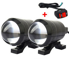 2x U1 Lumière de moto LED Motorcycle light Driving Fog Light Spot Lamp + Switch