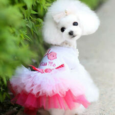 Pet Supply Puppy Dog Cat Tutu Dress Lace Skirt Princess Clothes Apparel Costume