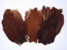 Natural Brown Hen cape,,Grade A, fly tying materials, Feathers, Craft