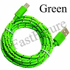 Micro USB Data Sync Charger Cable Cord Braided  3ft/6ft/10f  Samsung Galaxy Lot