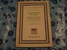 PLUTARCO DI CHERONEA - L'EDUCAZIONE DEI FIGLI Ed. Paravia 1971