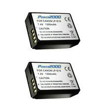2 Pcs Power2000 LP-E10 Rechargeable Battery for Canon EOS T3 and T5 SLR Camera