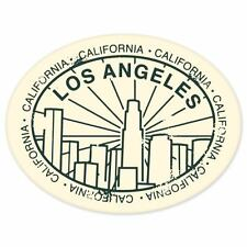 "Los Angeles LA USA travel car bumper window suitcase sticker 5"" x 4"""