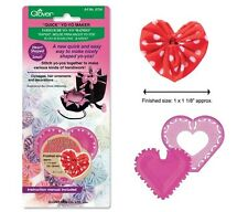 Clover Quick Yo-Yo Maker Heart Shaped Small #CL8704  Sewing Quilting Notions