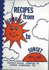 *REMOND WA 1987 RECIPES FROM SUNRISE TO SUNSET COOK BOOK *ELEMENTARY SCHOOL PTA